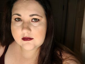 Mary with makeup look