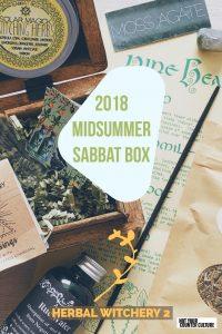 Get in touch with your herbal side once again with the 2018 Midsummer Sabbat Box. This herbal witchery box expands on last year's and is even better!
